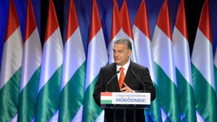Orbán Viktor 18. évértékelő beszéd. Kép forrása: hirado.hu