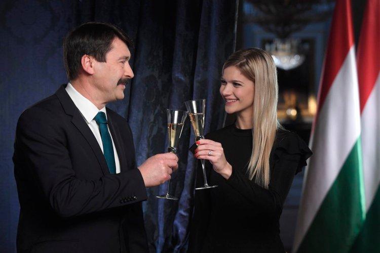 Áder János és Weisz Fanni - 2018. január 1.