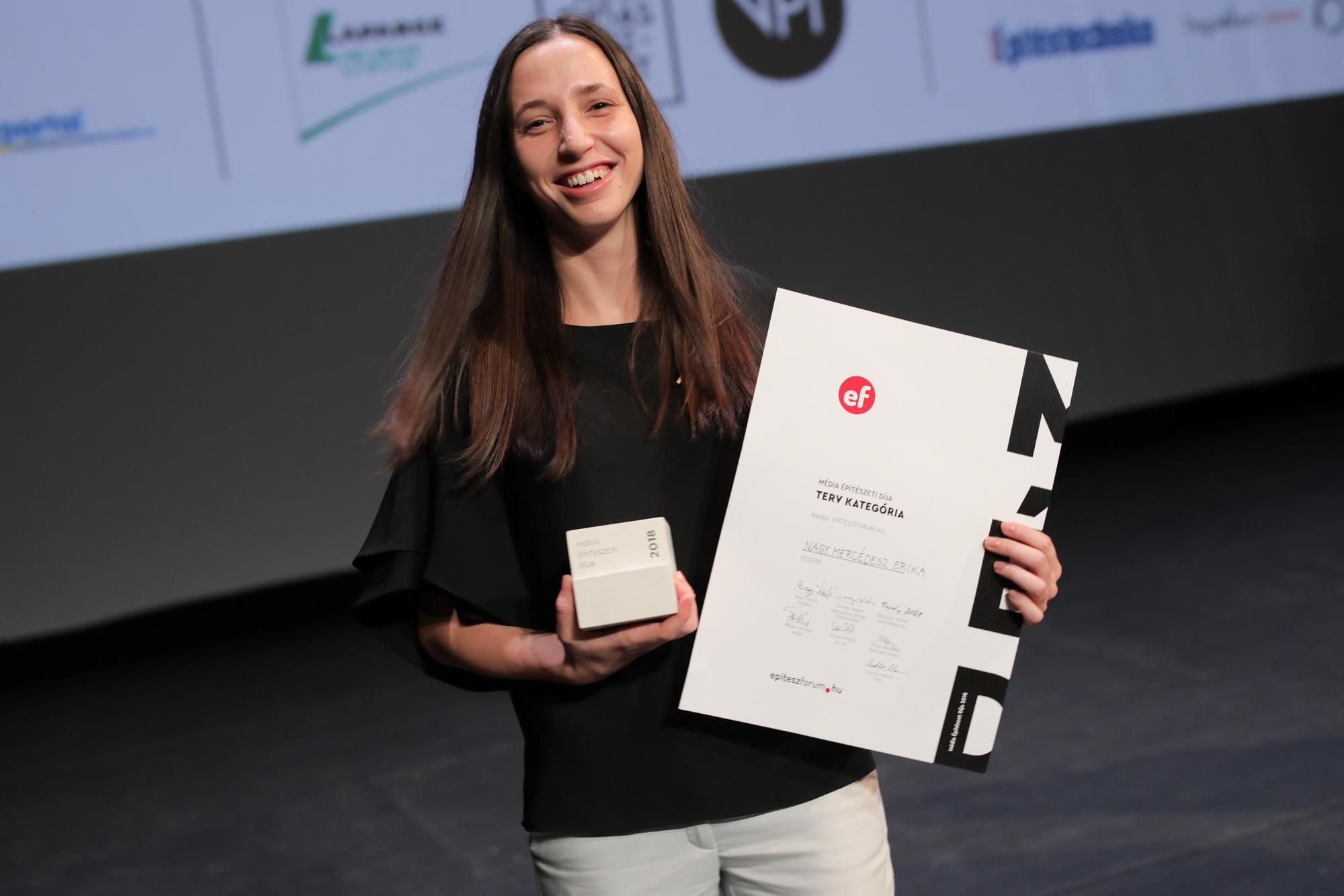 Nagy Mercédesz Erika a MÉD 2018 Terv kategória győztese
