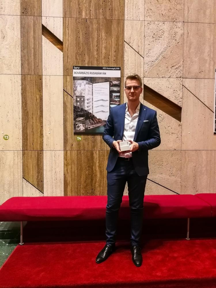 Krajnyák Nándor Bence építészmérnök hallgató, a MÉD 2018 Terv kategóriájának Közönségdíj győztese