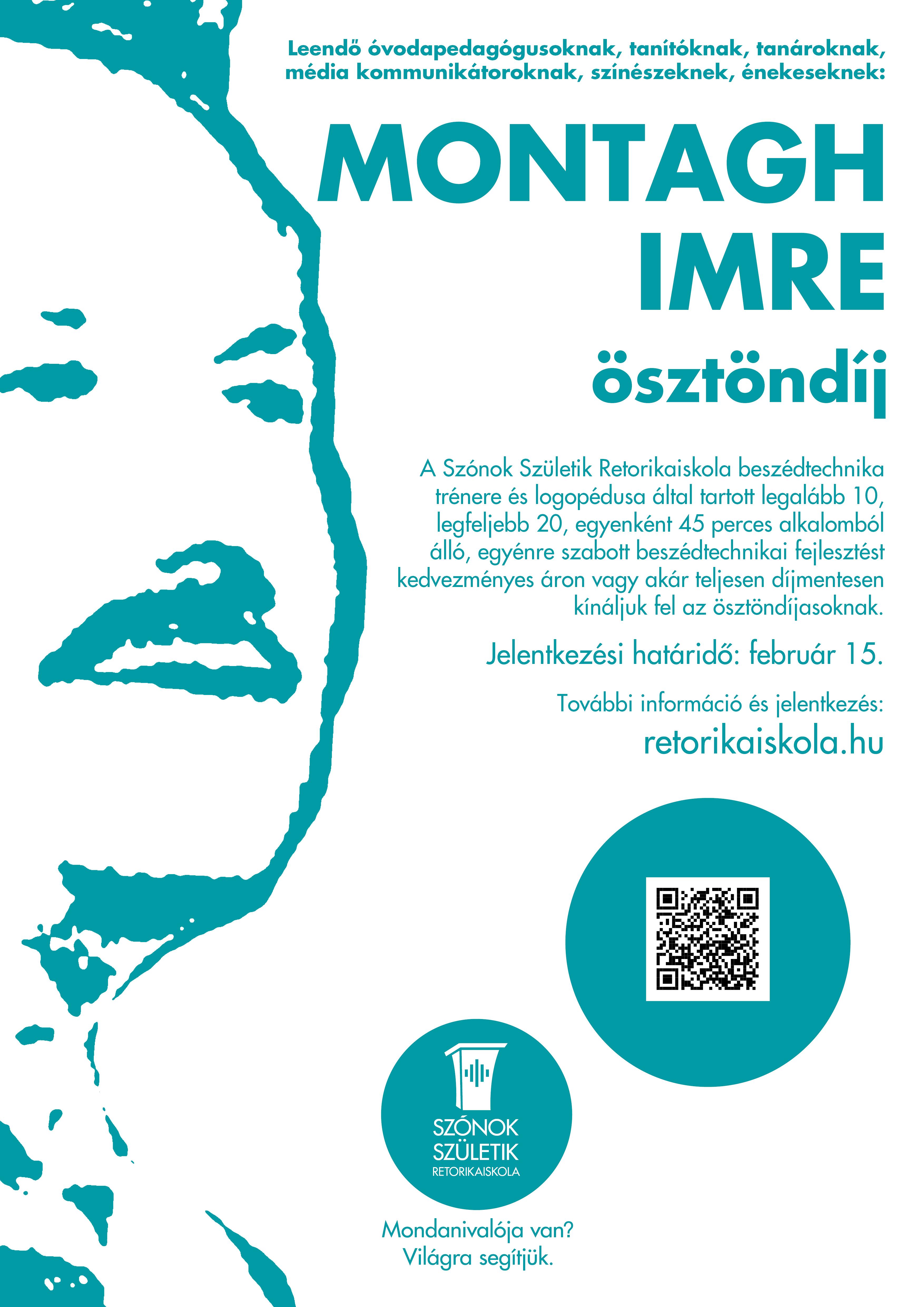 Montágh Imre-ösztöndíj 2020 tavasz